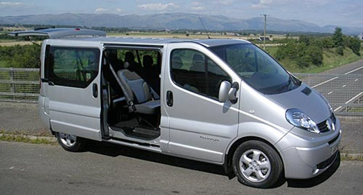 airport transfer mini vans for hire